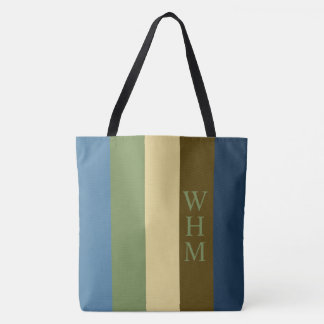 Erdumfassende Paletten-Streifen-Monogramm-Windel Tasche