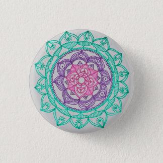 Erdung des Mandala-Buttons durch Megaflora Runder Button 3,2 Cm