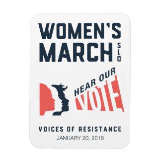 Ereignis der Frauen des März-SLO Januar Magnet