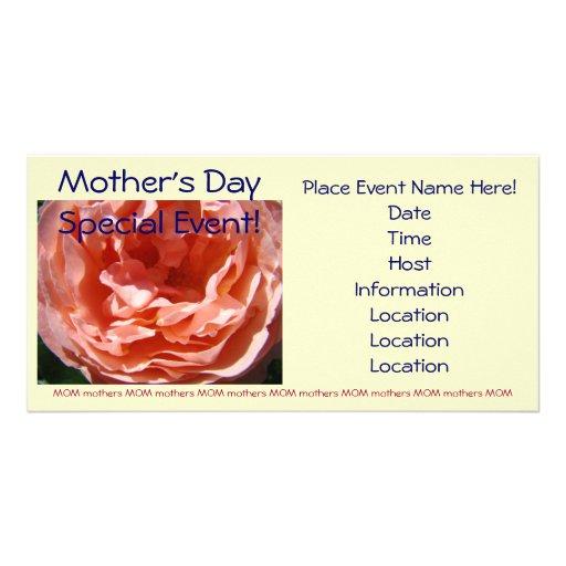 Ereignis-Rosa-Roseneinladungen der Mutter speziell Bildkarten
