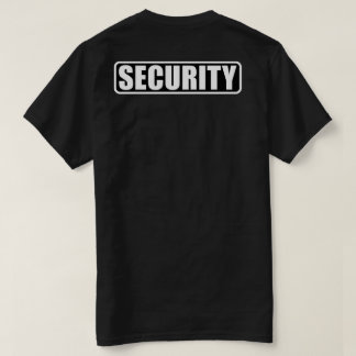 Ereignis-Sicherheits-Crew - Front und Rückseite T-Shirt