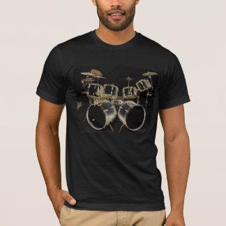 Erfahrenes Schlagzeuger-T-Stück mit Schrift T-Shirt