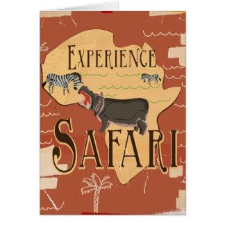 Erfahrungs-afrikanische Safari-Vintages Karte