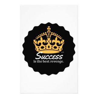 Erfolg ist das beste Rache-Motto Briefpapier