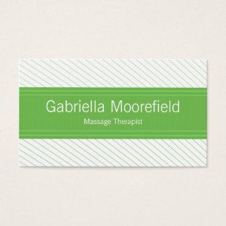 Erfolgs-Linie Grün-Massage-Therapie-Visitenkarten Visitenkarten