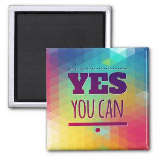 Erfolgs-motivierend ja können Sie Haltungs-Magnet Quadratischer Magnet