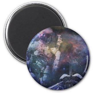 Erforschen Sie die Schönheit des Raumes Runder Magnet 5,1 Cm