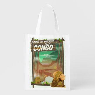 Erforschen Sie die Sumpfgebiete des Kongos Wiederverwendbare Einkaufstasche