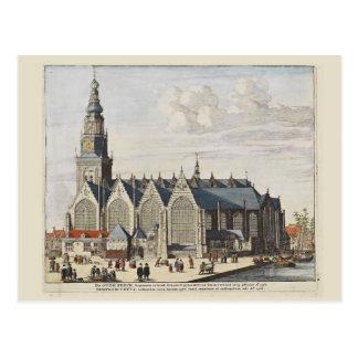 Erforschen Sie Holland, Amsterdam, die alte Kirche Postkarten