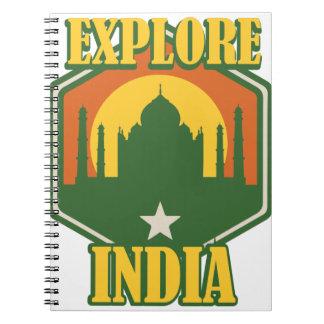 Erforschen Sie Indien Notizblock
