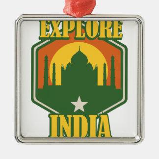 Erforschen Sie Indien Silbernes Ornament