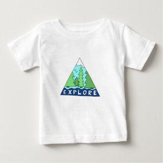 Erforschen Sie Natur-draußen Wildnis-Berge Baby T-shirt