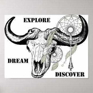 Erforschen Sie Traum entdecken Poster