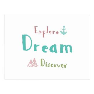 Erforschen Sie Traum entdecken Postkarte