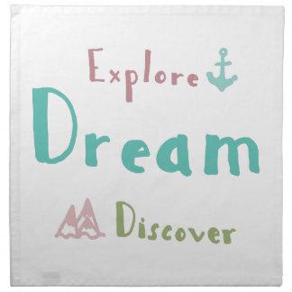 Erforschen Sie Traum entdecken Stoffserviette