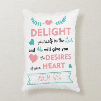 erfreuen Sie sich im Lord Bible Verse PILLOW Zierkissen