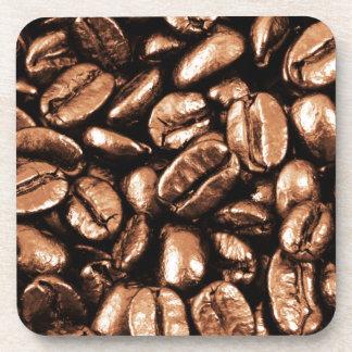 Erfrischungsrestaurantkoka der Kaffeebohnen abstra Getränkeuntersetzer