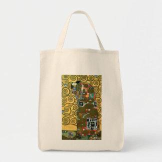 Erfüllung alias die Umarmung durch Gustav Klimt Tragetasche