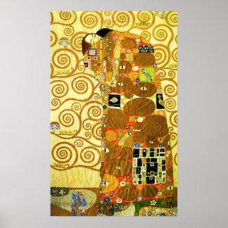 Erfüllungs-Plakat Gustav Klimt Poster