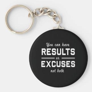 Ergebnisse oder Entschuldigungen Schlüsselanhänger