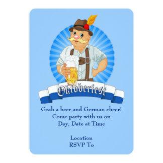 Ergreifen Sie ein Bier! Oktoberfest Party 12,7 X 17,8 Cm Einladungskarte