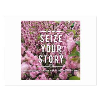 Ergreifen Sie Ihre Geschichten-Postkarte Postkarte