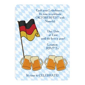 Ergreifen Sie Ihre Lederhosen Oktoberfest Party 12,7 X 17,8 Cm Einladungskarte