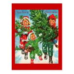 Erhalten der Weihnachtsbaum-Postkarte