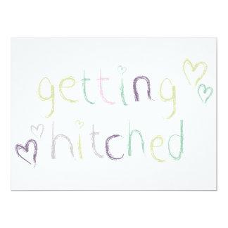 Erhalten des Hitched Hochzeitstags 16,5 X 22,2 Cm Einladungskarte