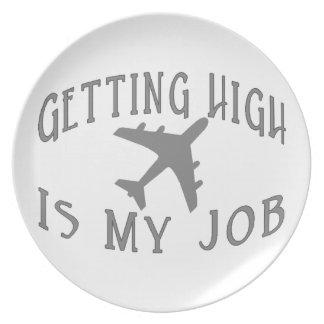 Erhalten des hohen Fluglinien-Piloten Melaminteller