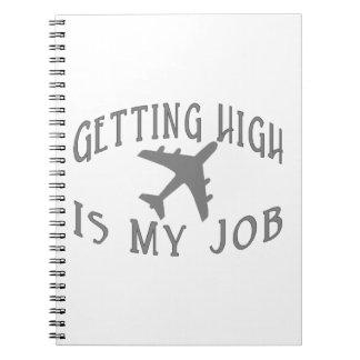 Erhalten des hohen Fluglinien-Piloten Spiral Notizblock