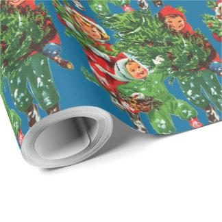 Erhalten des Weihnachtsbaum-Packpapiers Geschenkpapier