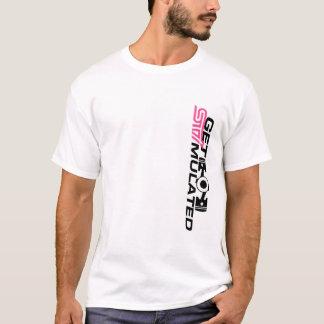 Erhalten Sie angeregte Shirt-Vertikale T-Shirt