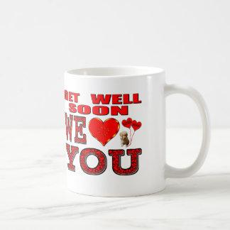 Erhalten Sie Brunnen bald uns Liebe Sie Kaffeetasse