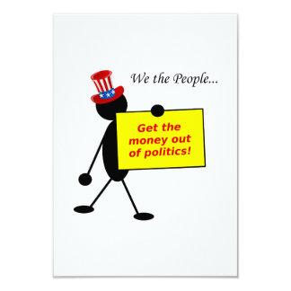 Erhalten Sie das Geld aus Politik heraus 8,9 X 12,7 Cm Einladungskarte
