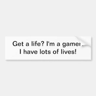 Erhalten Sie ein Leben? Gamer - Autoaufkleber