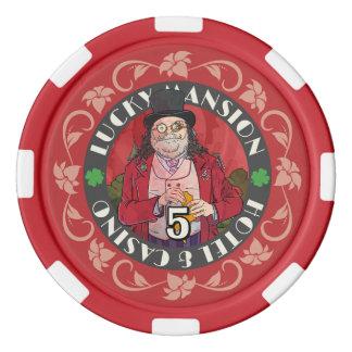 Erhalten Sie glückliche Poker-Chips Poker Chip Set