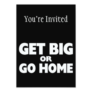 Erhalten Sie groß oder gehen Sie Zuhause-Weiß 12,7 X 17,8 Cm Einladungskarte