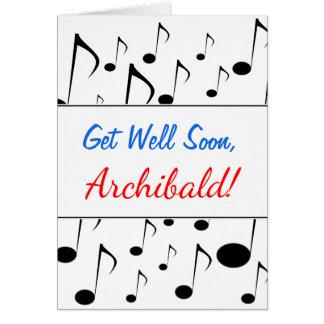 """""""Erhalten Sie gut bald"""" + Viele musikalischen Karte"""