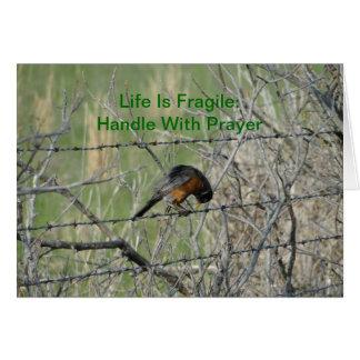 Erhalten Sie gut, Robin im Gebet Karte