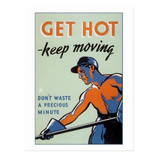 Erhalten Sie heiß Postkarte