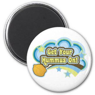 Erhalten Sie Ihr Hummus an Runder Magnet 5,7 Cm
