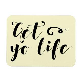 Erhalten Sie Ihre Leben-Typografie Magnet
