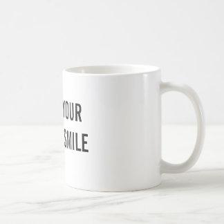 Erhalten Sie Ihre Tasse und Lächeln