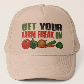 Erhalten Sie Ihren Bauernhof-Freak auf lustigem im Truckerkappe