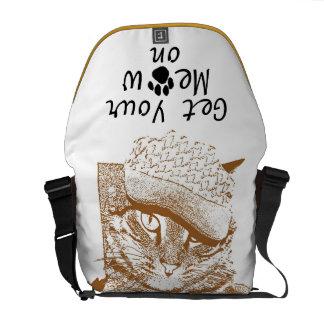 Erhalten Sie Ihren Meow auf Bote-Tasche Kuriertasche
