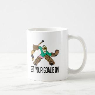 Erhalten Sie Ihren Tormann an Kaffeetasse