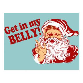Erhalten Sie in meinem Bauch-lustigen Weihnachten Postkarte
