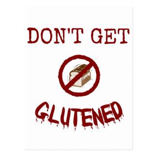 Erhalten Sie nicht Glutened Postkarte