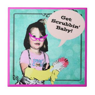 Erhalten Sie Scrubbin Baby Aufgaben-Erinnerung - Fliese